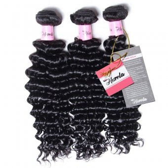 Hurela Series 3Pcs/Pack Deep Wave Virgin 100% Upprocessed Human Hair Weft