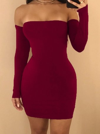 JurllyShe Backless Lace Up Bodycon Dress