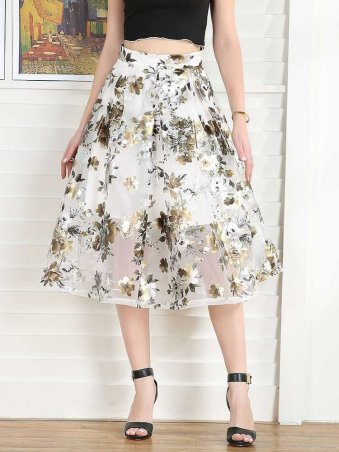 JurllyShe Floral Expansion Skirt