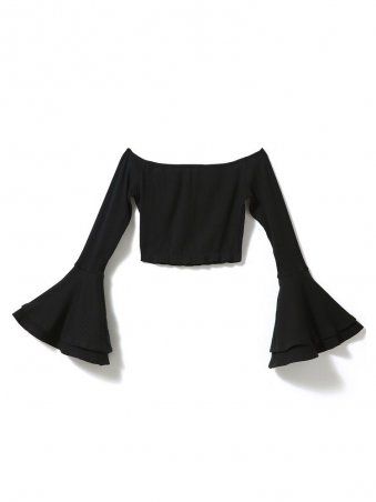 JurllyShe Off Shoulder Crop Blouse