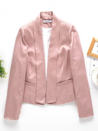 JurllyShe Open Front Shawl Collar Coat