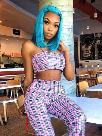 JurllyShe Plaid Spaghetti Strap Crop Top And Pants Set