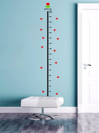 Kids Room Deco Height Ruler Measure Chart Wall Stickers