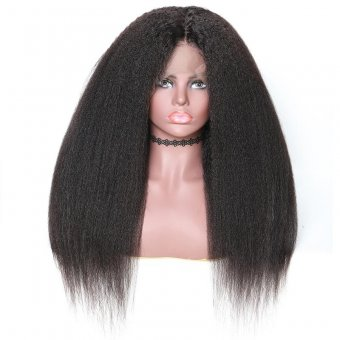 AfricanMall Afro Kinky Straight Lace Front Human Hair Wig