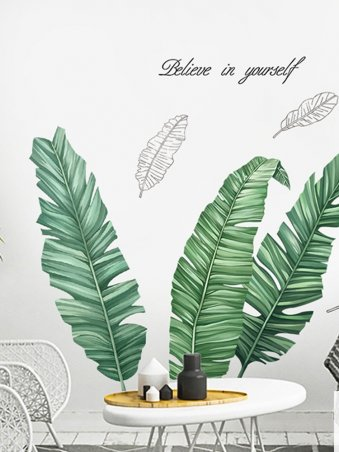 Large Home Decor Palm Tree Wall Stickers For Living Room