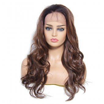 AfricanMall Inclined Bang Long Body Wave Synthetic Hair Wig