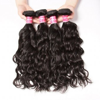 AfricanMall Natural Wave 4 Bundles Unprocessed Virgin Human Hair