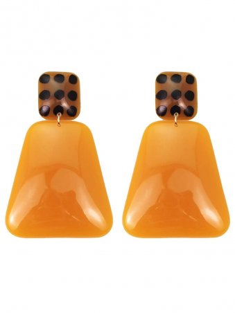 Resin Geometric Drop Earrings
