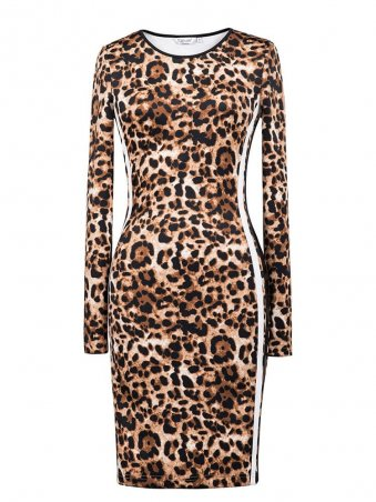 JurllyShe Leopard Print Bodycon Dress