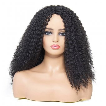 AfricanMall Afro-Curly Hairstyle Synthetic Hair Wig