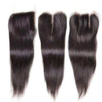 AfricanMall 4*4 Straight Lace Closure 100% Virgin Human Hair