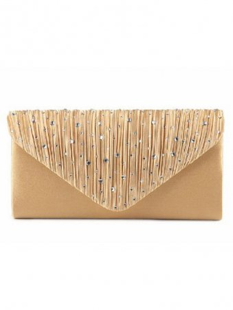 Upscale Diamante Evening Bags Clutch Bag With Chain