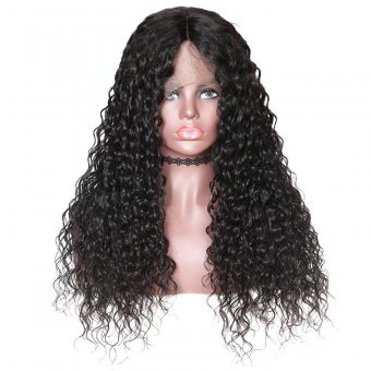 AfricanMall Water Wave 360 Full Lace Front Human Hair Wig