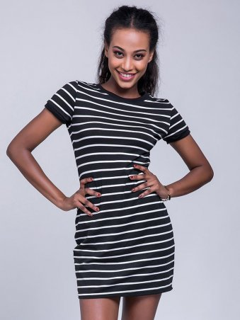 JurllyShe Women's Casual Striped Bodycon Tee Dress Striped Dress