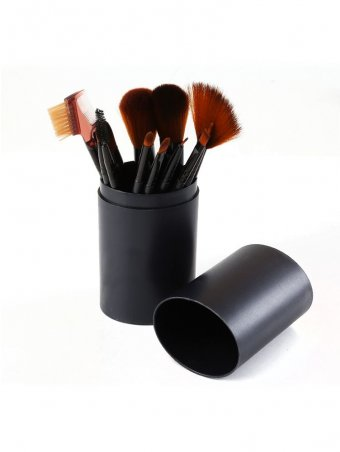 12pcs Beginners Only Makeup Brush Set with Dust Proof Barrel