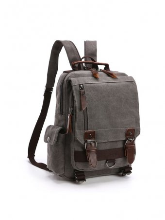 Canvas Outdoor Travel Unisex Laptop Backpack