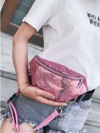 Sequins Design Fashion Style Fanny Pack