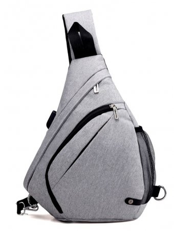 Minimalist Outdoor Sling Bag Chest Pack With USB