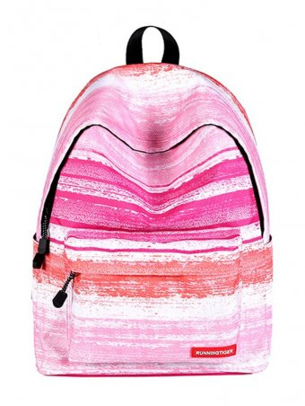 Starry Sky Pattern Canvas Backpack-Pink