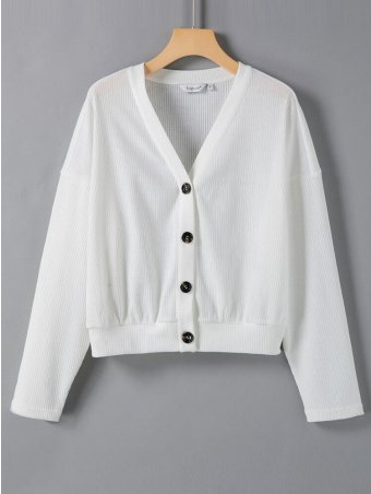 Button Front Knitted Coat