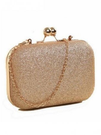 Glitter Twist Lock Chain Evening Crossbody Bags