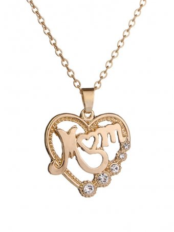 Hollow Out Diamond Heart Necklace for Mom