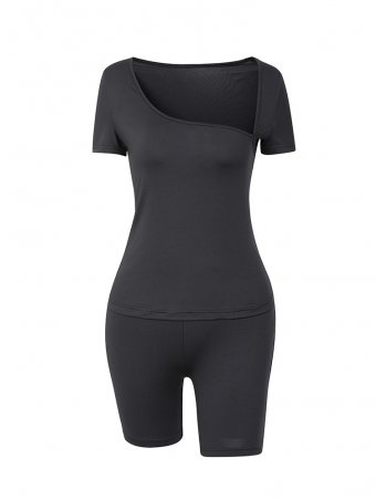 JurllyShe Sport T-shirt & Shorts Set Cycling Pants