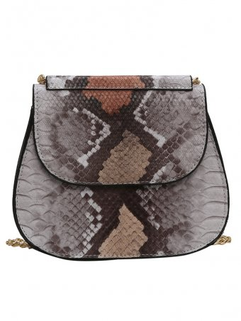 Snake Skin&Stone Texture Design Crossbody Bag