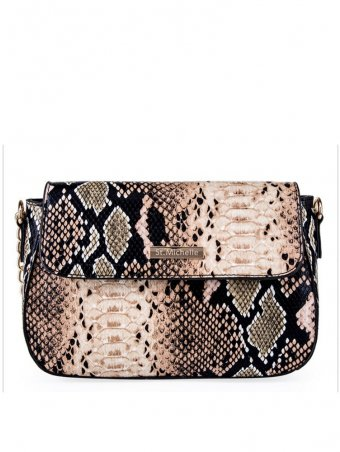 Snakeskin Pattern Chain Crossbody Bag