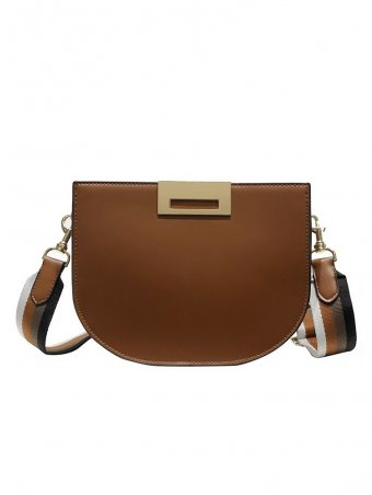 Square Shaped PU Crossbody Bag