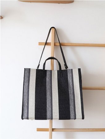 Striped Canvas Tote Bags