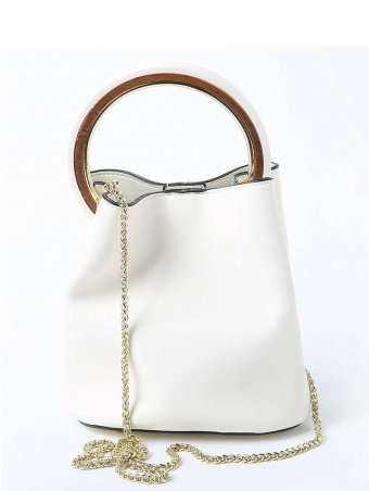 Top Handle Bucket Bag With Zipped Purse