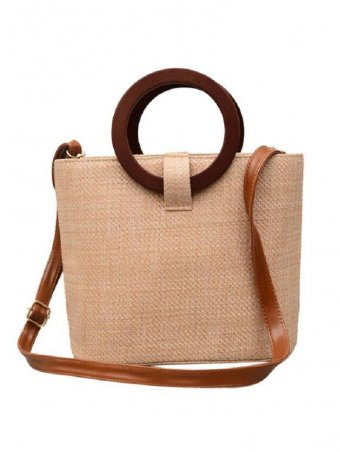 Vintage Straw Ring Tote Bag Crossbody Bags