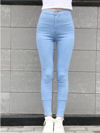 JurllyShe Solid Stretchy Pencil Jeans