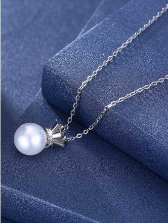 Artificial Zircon Pearl Necklace
