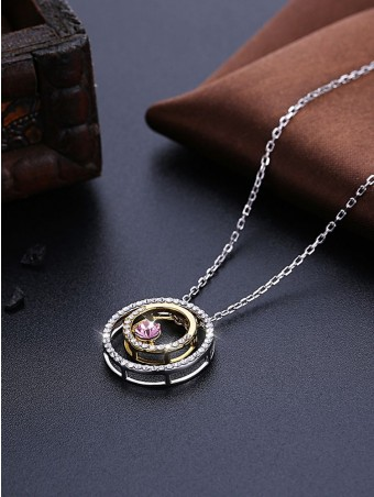Austrian Crystal Ring Sets Pendant Necklace