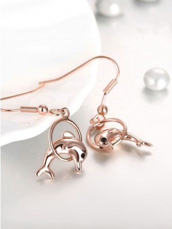 Dolphin Designed Ring Earing