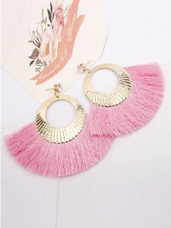 Fan-Shaped Tassel Drop Earjewelrys