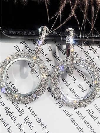 Gemmy Circle Hoop Drop Earrings