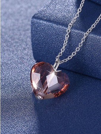 Heart Austrian Crystal Pendant Necklace