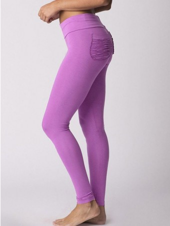 JurllyShe Back Pocket Fitness Sports Leggings-Purple