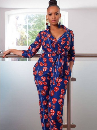 JurllyShe Bow Knot Wrap Waist Pencil Jumpsuit