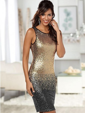 JurllyShe Ramp Shader Sequins Vest Dress