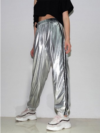 JurllyShe Side Stripe Leather HPU Leather Pants