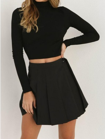 JurllyShe Turtleneck Bow Cut Out Back Top