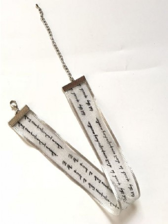 Letter Printed Galloon Choker Necklace