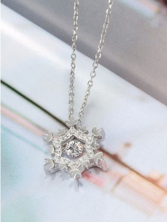 Snowflake Pendant Sterling Silver Necklace