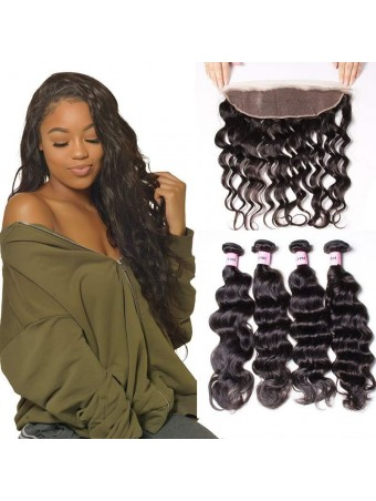 UNice Icenu Series Brazilian Lace Frontal Closure With Natural Wave Hair