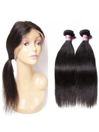 UNice Icenu Series Brazilian Straight Hair with 360 Frontal Closure