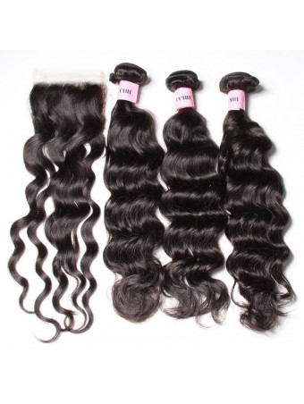 UNice Icenu Series Brazilian Virgin Natural Wave With 44 Lace Closure